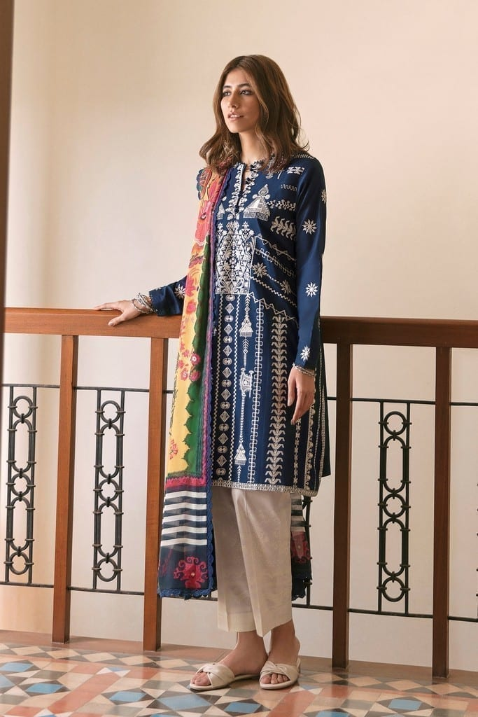 ZAHA LAWN   Embroidered Lawn Suits   NAHID (ZL21-10 A)