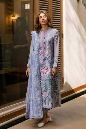 ZAHA LAWN | Embroidered Lawn Suits | ZASTAR (ZL21-09 B)