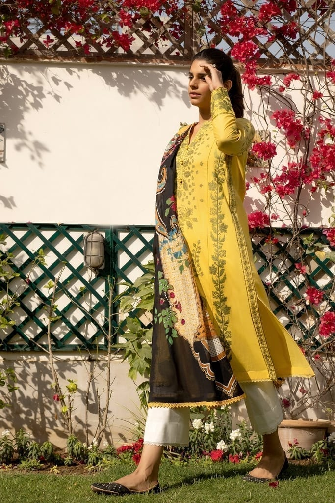 ZAHA LAWN   Embroidered Lawn Suits   LUKHAN (ZL21-12 B)