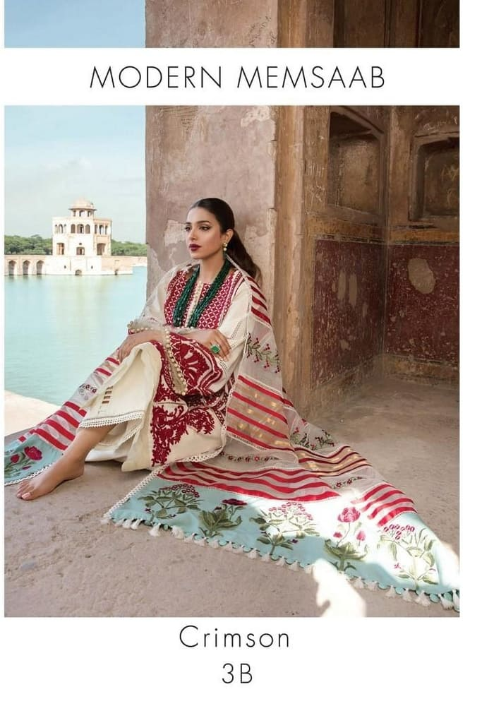CRIMSON BY SAIRA SHAKIRA | LUXURY SUMMER Collection'21 | 3B CRIMSON MODERN MEMSAAB