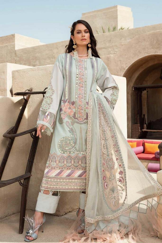 SHIZA HASSAN   LUXURY LAWN COLLECTION 2021   1-A AARA