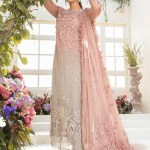 MARIA B | MBROIDERED EID FESTIVE | Coffee and Ash Pink (BD-2101)