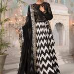 MARIA B | MBROIDERED HERITAGE Collection | Black and White with Gold (BD-2203)