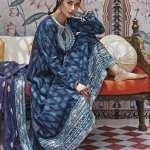 CROSS STITCH | RIM JHIM Collection'21 | BARG-E FEROZ A
