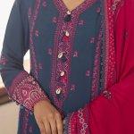 CROSS STITCH | MANZIL KHADDAR & LINEN COLLECTION'21 | PAVOT BLUE