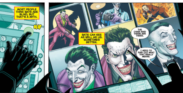How can there be three jokers? Or the better question, How does Batman have a picture of all 3?