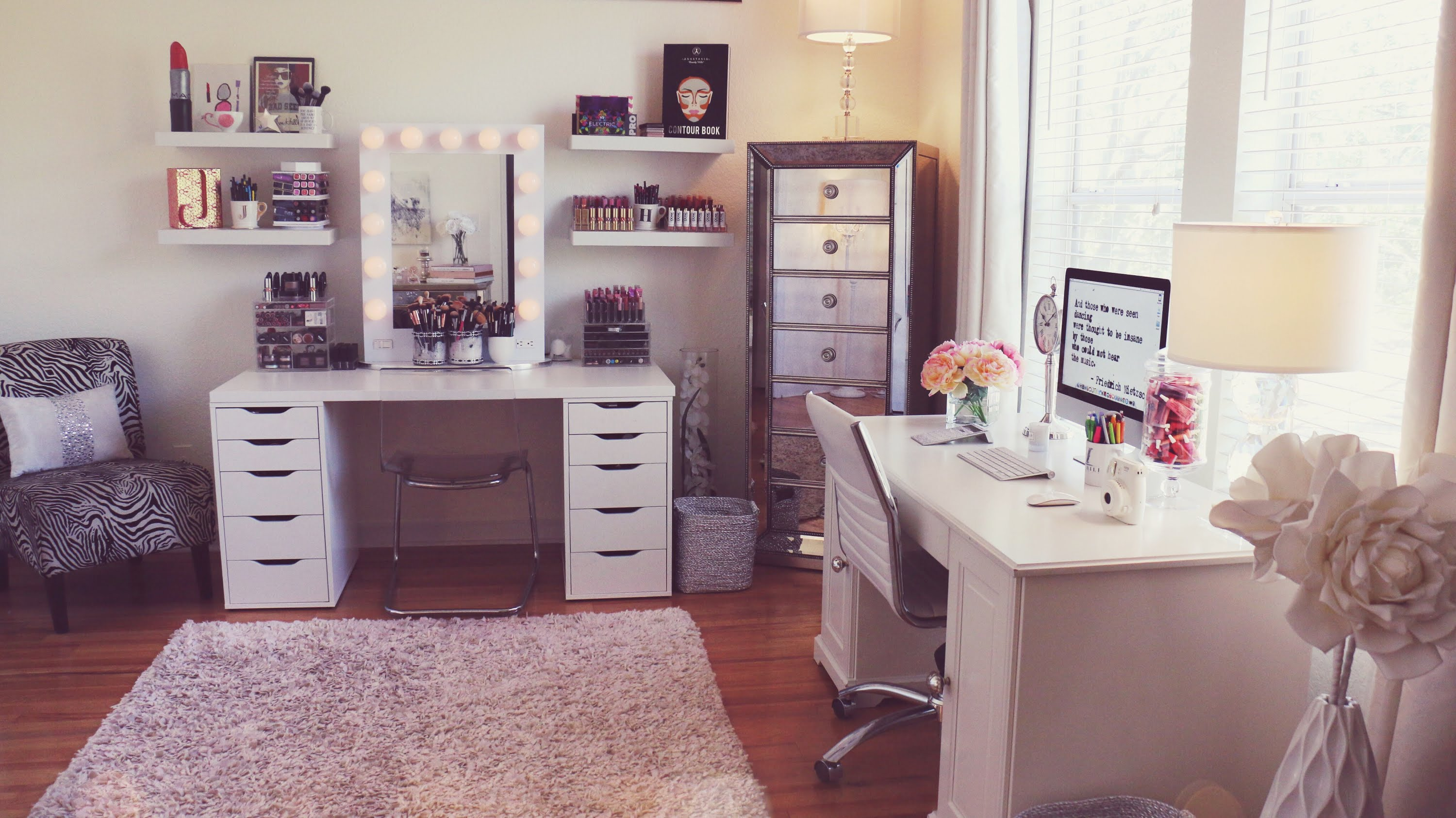 Beauty Room Inspiration and Makeup Organisation - the ... on Makeup Room Ideas  id=90303