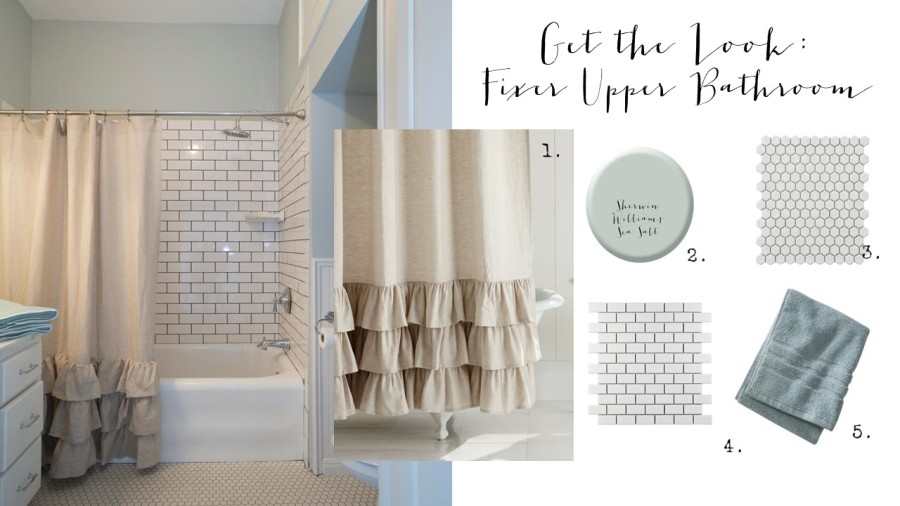 Get The Look Fixer Upper Bathroom House Of Hargrove