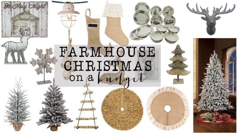 Farmhouse Christmas Decor On A Budget