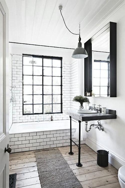 Modern Farmhouse Bathrooms - House of Hargrove on Farmhouse Tile Bathroom Floor  id=17131