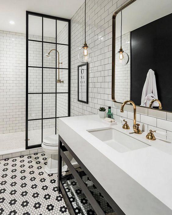 Modern Farmhouse Bathrooms - House of Hargrove on Modern Farmhouse Shower  id=23130