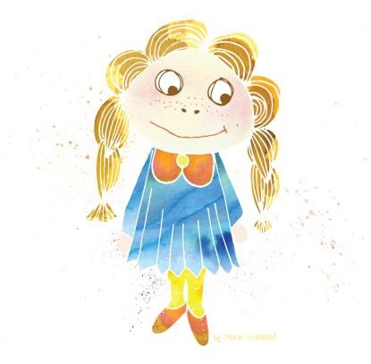 Illustration: Little Girl
