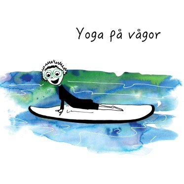 Klara-SUP-yoga-Mitt-yogaliv-yoga-cartoon-yogaserie-by-Marie-Ledendal