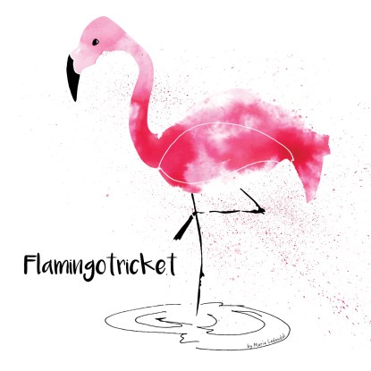 Liv-Flamingo-Mitt-yogaliv-yoga-cartoon.yogaserie-by-Marie-Ledendal