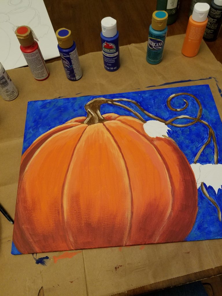 pumpkin paint tutorial