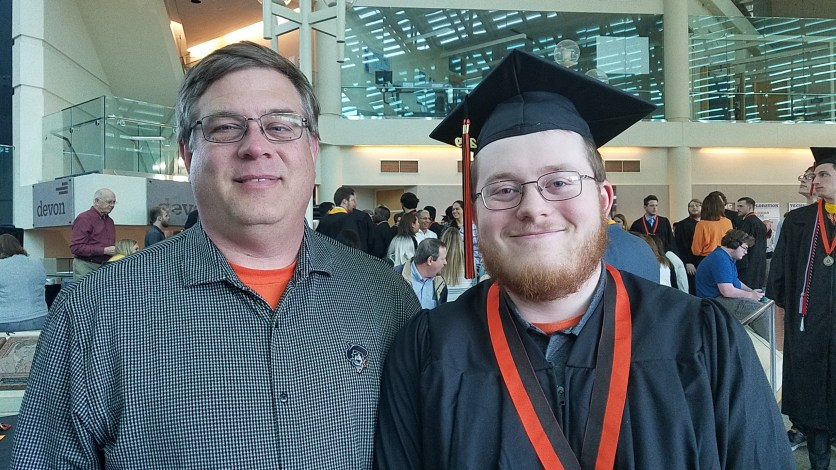 OSU Graduation Boy and Dad
