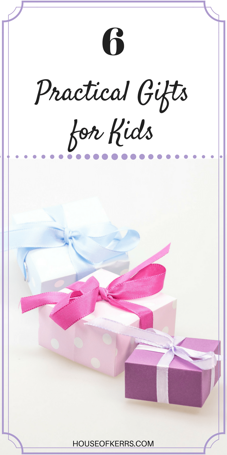 6-practical-gifts-for-kids unique gift ideas for birthdays, baptisms, easter, graduation, baby showers, experience gitfs for kids, favourite things, personalized gifts for kids