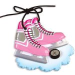 girls hockey skates ornament pink