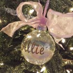 DIY oersonalized holiday ornament