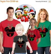 disney family matching christmas reindeer shirts