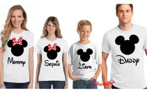 disney family matching custom tshirts