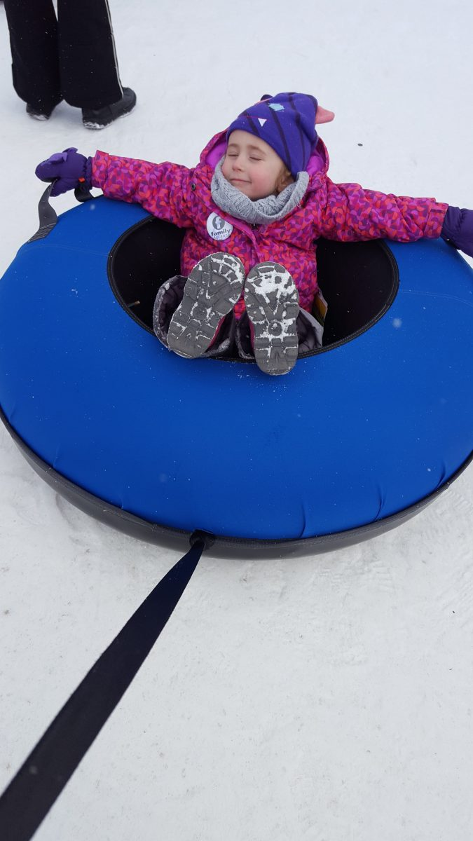 snow tubing for toddlers blue mountain village