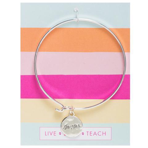 Teacher Gift | INSPIRE silver necklace by foxy originals