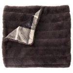 fur throw indigo