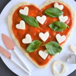 Pizza Margherita | Heart-Shaped Pizzas | Valentine's Day Dinner Inspiration | Simple Meals for Families | Easy Italian Meals