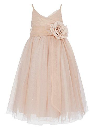 Blush.Flower.Girl.Dress.Beach.Wedding.Tulle.Vow.Renewal