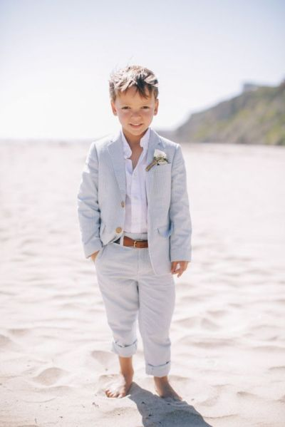 Vow Renewal | Beach Wedding | Ring Bearer | Dusty Blue | Pale Blue Palette
