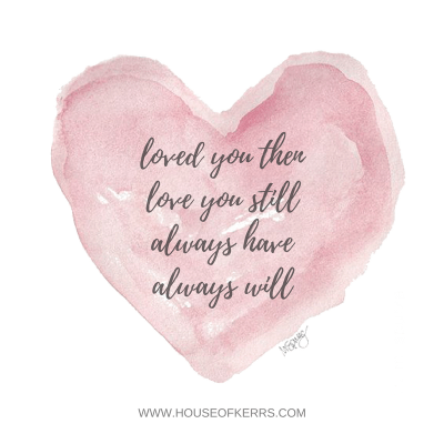 Vow Renewal Quotes | Inspiration | Celebrate Love | Watercolor Heart | Loved you then, Love You Still, Always Have, Always Will