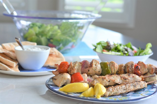 BBQ Greek Turkey Kebabs   Ontario Turkey Makes It Super   Summer BBQ Recipes   Greek Salad   Suppers Made Simple This Summer