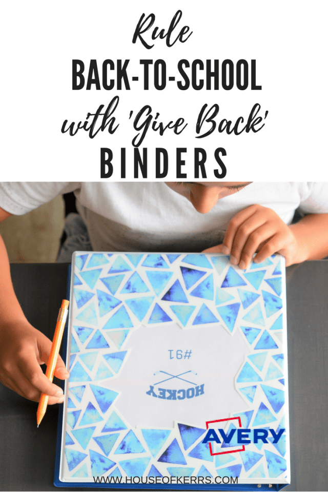 AVERY Canada 'Give Back' Binders GIVEAWAY | #AveryGivesBack | Buy One Give One Binder Program | Shop Avery.ca or Staples.ca | Sponsored | Rule Back To School