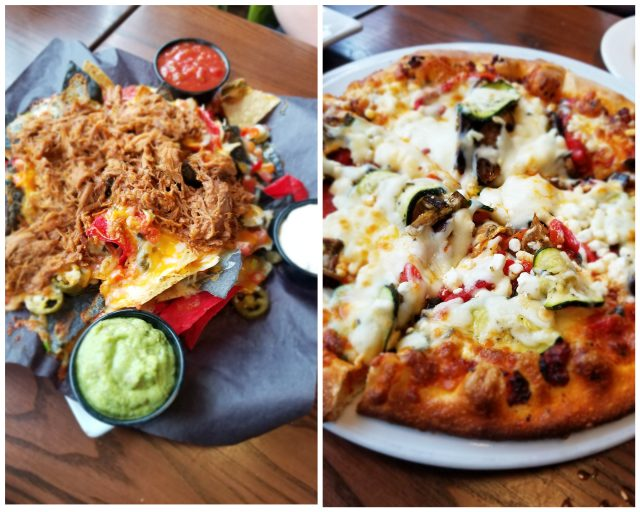 Lunch at Firehall Pizza Co. Blue Mountain | best places to eat | Pulled Pork Nachos and guac | Toscana Pizza