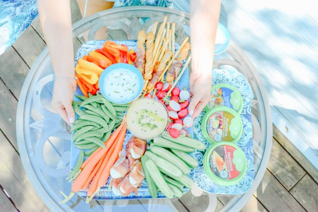 Vegetable platter | Summer Fresh dips and hummus