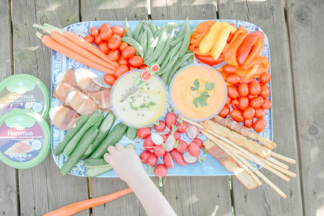 simple summer snacks | cottage hacks | Summer Fresh dips and hummus