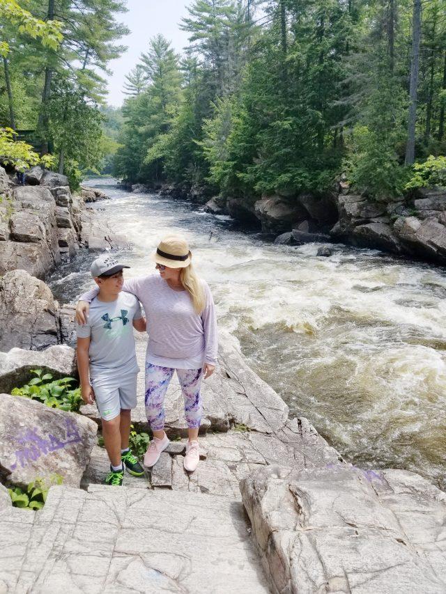 dorwin falls Quebec rivers edge