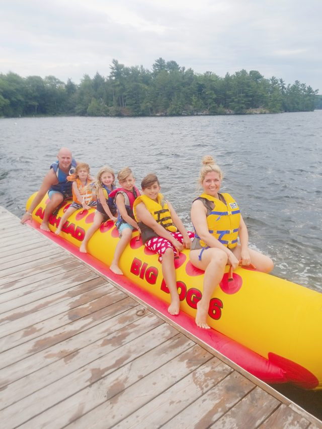 Family Banana Boat Ride Severn Lodge