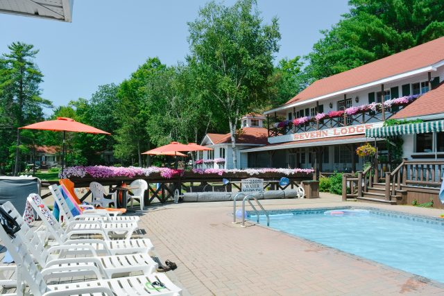 heated pool severn lodge