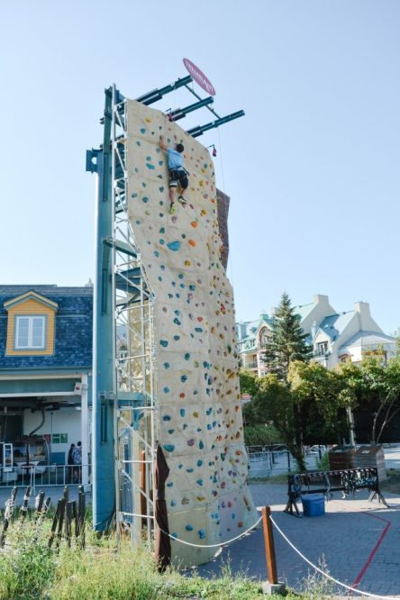 Family Guide to Tremblant in Summer - Climbing Wall House of Kerrs Copyright