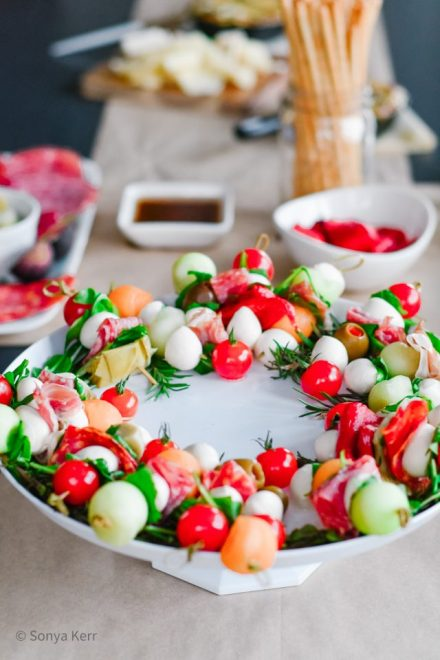 Antipasto Misto Festive Wreath
