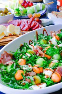 Prosciutto-Melon-Bocconcini-Antipasto-Salad