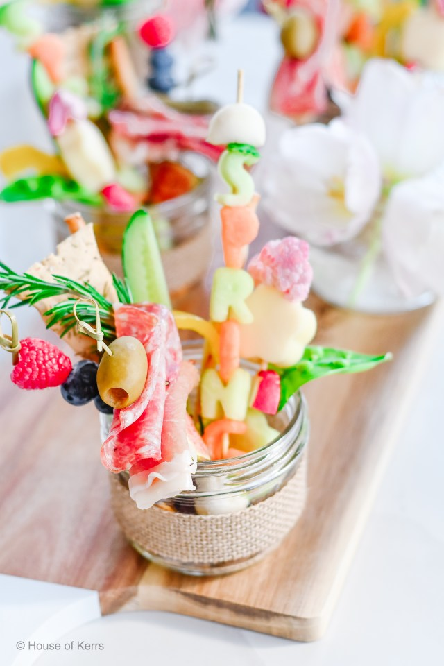 Spring themed Jarcuterie board | HouseofKerrs.com