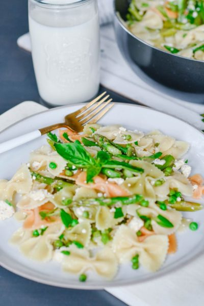 Asparagus and Peas Pasta Recipe Ontario Dairy