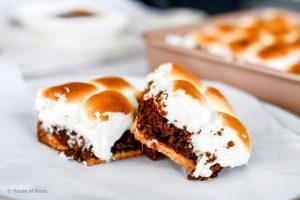 Simple S'mores Brownie Bars