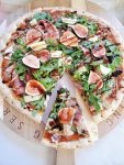 rustic fig prosciutto flatbread pizza