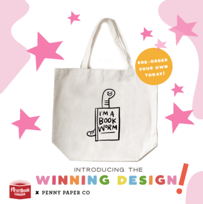 PennyPaperCo.FirstBookCanada.Tote.Holiday GIVE Guide
