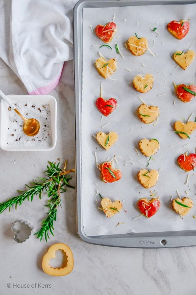 How to make heart-shaped roasted potatoes | HouseofKerrs.com