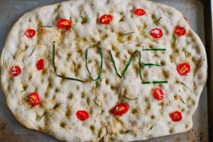 LOVE Pizza Bianca Word Art Recipe | Valentines Day Menu | HouseofKerrs.com